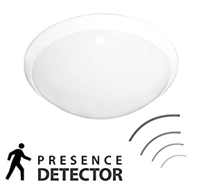 Modern Ceiling/Wall Mounted Bulkhead Microwave Sensor Light