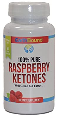 Doctor Formulated Earthbound Premium Raspberry Ketones | 100% Pure Maximum Formula for Fat Burning & Weight Loss | Appetite Suppressant and Natural Weight Loss Supplement | 60 vegan capsules