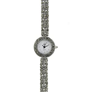 sterling silver marcasite butterfly watch