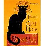 Le Chat Noir (The Black Cat) by Théophile Alexandre Steinlen. Art Print Poster (16 x 20)