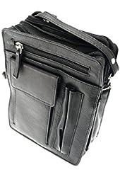 Premium Quality Soft Leather 6 Compartment Shoulder / Cross Strap Bag.