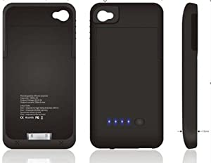 Eclipse iPhone 4 4S Case Batterie Externe 1900mAh Couleur Noir: Amazon.fr: High-tech