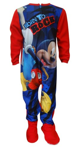 Disney Mickey Mouse Onesie Footie Toddler Pajamas For Boys (4T) front-1050654