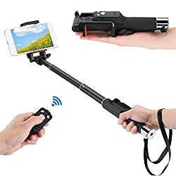 DMG YUNTENG YT-888 Selfie Stick Foldable Pocket Monopod Stick 7-31 inches with Bluetooth Remote Shutter Controller for iPhone Samsung HTC iOS Andriod Cellphone Smartphones