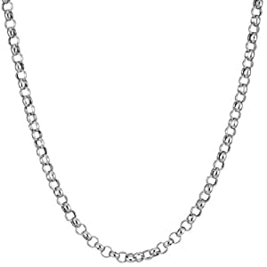Feine Silberkette Erbskette Ankerkette Rolokette Halskette Kette Collier Armband Fußkette 925 Silber Sterling 2mm - 15, 20, 25, 30, 35, 40, 45, 50, 55, 60, 65, 70, 75, 80, 85, 90, 95, 100cm