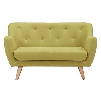 Scandi sofá fija 2plazas-129x 82x 79cm-Tejido-verde