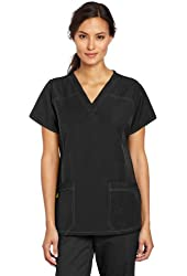 WonderWink Women's Scrubs Four Way Stretch Sporty V-Neck Top
