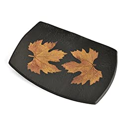 Petrified Forest 10-inch Footed Tray, Black