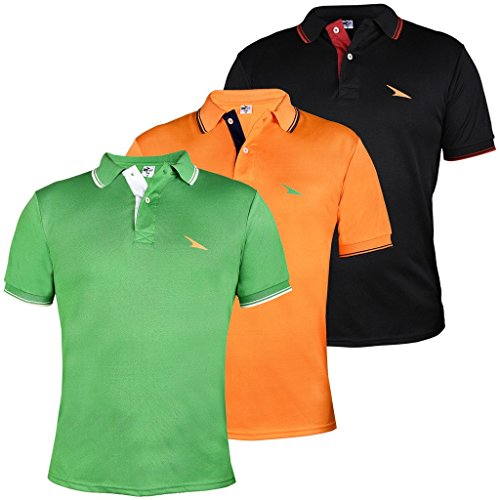 PRO-Lapes-Mens-Micropoly-Tipping-Polo-T-Shirt-Pack-Of-3-XX-Large-Multi-Coloured