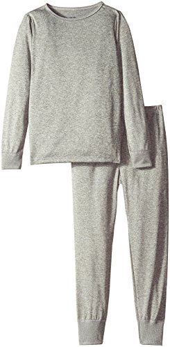 Fruit of the Loom Little Girls' Performance Thermal Underwear 2-Piece Set, Heather Grey Cationi, 4/5 (Footed Thermal Underwear compare prices)