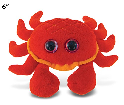 "Puzzled Big Eye Plush, 6"", Red Crab"