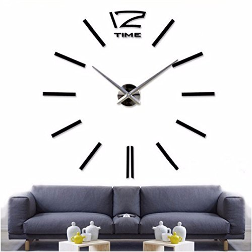 3D Home Decoration Wall Clock Big Mirror Wall Clock Modern Design,Large Size Wall Sticker