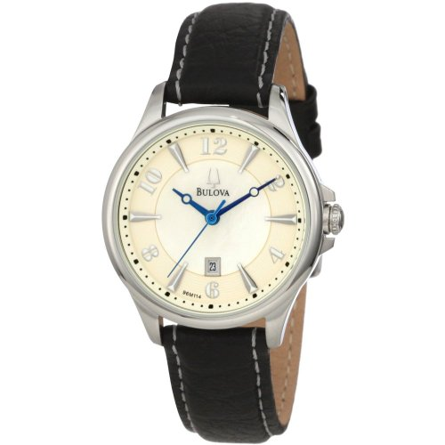 Bulova Ladies Adventurer Leather Strap Watch - 96M114