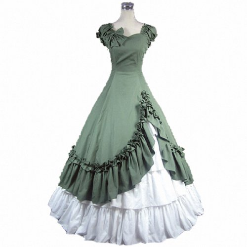 Partiss Womens Satin Ruffles Gothic Wedding Party Dress