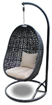 Hot Sale Harmonia Living Nimbus Modern Outdoor Patio Swing Chair with Stone Cushions (SKU HL-NMBS-SWING)