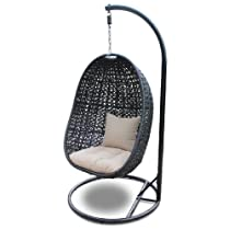 Nimbus Outdoor Swing Chair with All Weather Wicker and Outdoor Cushions