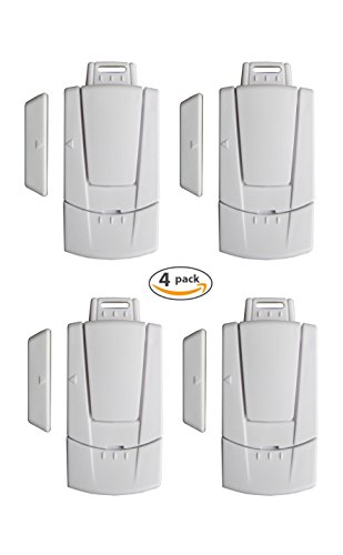 Instapark IN03C Home Security Window / Door Magnetic Sensor Alarm, 4-Pack