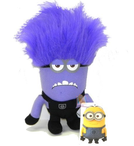 Despicable Me 2 Purple 2 Eye Evil Minion 7inch Plush - 1