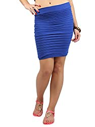 Thick Fold Strap Mini Skirt, NG71029-Blue