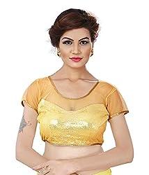 Pushkar Sarees Women's Cotton Blouse (Pushkar Sarees_95_Gold_Free Size)