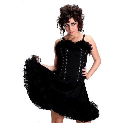 Horror-Shop Corsagen Kleid mit Tüll