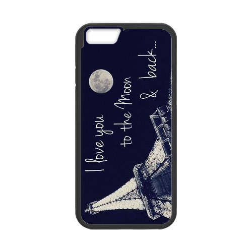 Amazing iphone 6 Case Cover i love you to the moon and back eiffel tower Pattern Tough iphone 6 Hard Back Protector mlb nfl nhl High Quality PC Case Detroit Tigers nd03428 for iPhone 6 Case