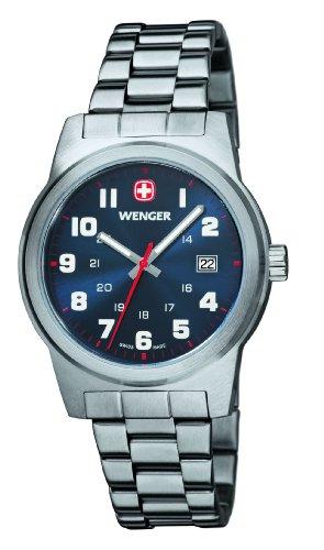 Wenger - 01.0441.101 - Montre Homme - Quartz Analogique - Aiguilles lumineuses - Bracelet Acier Inoxydable Argent