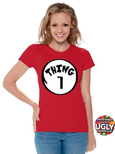 icustomworld Women`s thing 1 and thing 2 shirts (S, Thing 1)