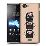 Head Case Designs Ninjas Dolly the Piglet Protective Snap-on Hard Back Case Cover for Sony Xperia J ST26i