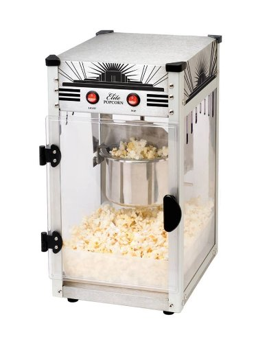Maximatic Epm-250Ss Elite Classic 2.5-Ounce Kettle Popcorn Popper Machine, Stainless Steel