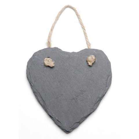 Bulk Buy: Darice DIY Crafts Slate Heart Ornament with Jute Hanger 4.7 x 4.7 inches (3-Pack) 9190-407
