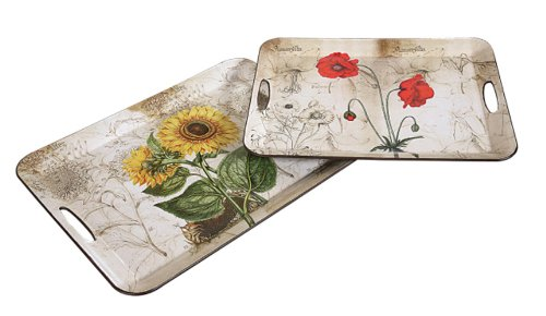 Set Of Two Floral Kitchen Serving Trays front-475760