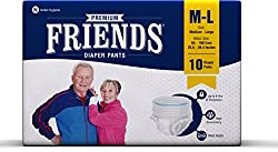 Friends Adult Pullups - Medium to Large (10 Count)