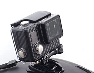 The Accessory Pro® Carbon Fiber Case Sticker compatible with all GoPro® Hero4 and Hero3+ Blackout decal Housing wrap