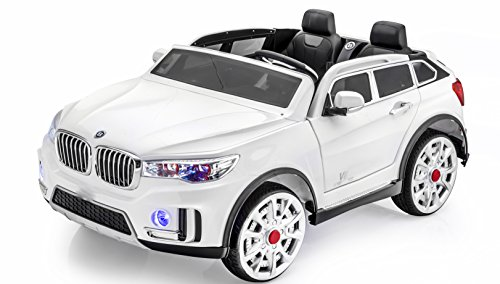 Stunning 2 seater Big Ride On Suv Style 12v Battery Operated Car for Kids with Music, Lights, Doors, MP3 and Remote Control (Battery Powered Two Seater Car compare prices)
