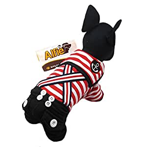 Alfie Couture Designer Pet Apparel - Adan Sailor Jumper - Color: Red, Size: S