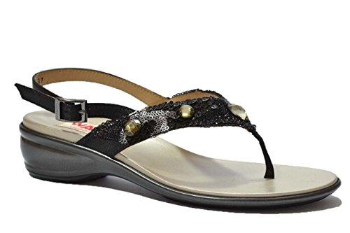 Melluso Sandali infradito nero scarpe donna R8607 36