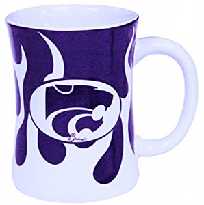 Buy NCAA Kansas State Wildcats Ceramic Relief Flame Design Mug, Team Color by Game Day Outfitters