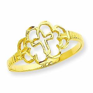 14k Cross Ring