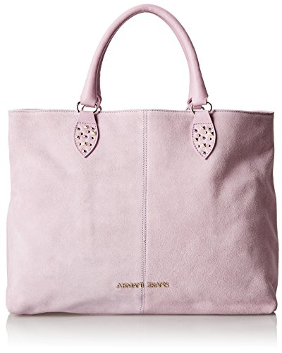 Armani Jeans Women's Suede Shopper with Stud Details, Lavender, One Size
