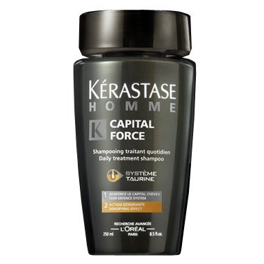 Kerastase Homme Bain Capital Force Densifying 250 ml -- For Men with Thin, Fine Hair