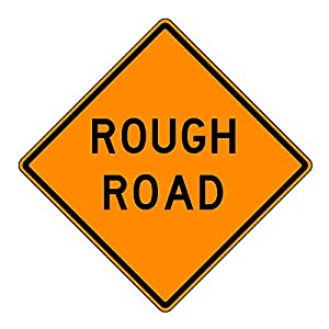 MUTCD W8-8Orange Rough Road Sign, 3M Reflective Sheeting, Highest Gauge Aluminum,Laminated, UV Protected, Made in U.S.A