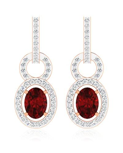 Art Of Diamond Pendientes Ruby Rose Gold