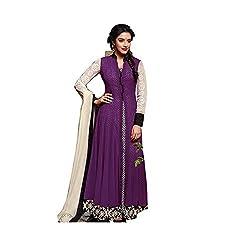 Jinaam Dress Women's Cotton Semi-stitched Salwar Suit Dupatta Material (0S-YAZO-VGOJ)