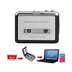 Foxnovo Tape to PC Super USB Cassette-to-MP3 Converter Capture Audio Music Player