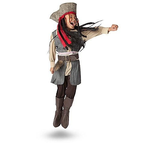 Disney Store Captain Jack Sparrow Pirates of the Caribbean Costume Size Large 10
