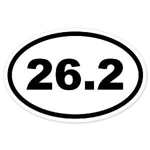 26 2 oval marathon run car bumper window for 13 1 window sticker