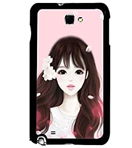 Printvisa Girl Dressed Like Cindrella Back Case Cover for Samsung Galaxy Note 2::Samsung Galaxy Note 2 N7100