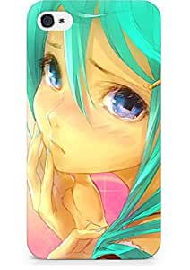 Amez designer printed 3d premium high quality back case cover for Apple iPhone 4s (Miku Tears)