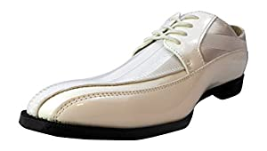 Stacy Adams White Mens Smooth Finish with Satin Inlay Lace-up Dress Shoe Size 9 M